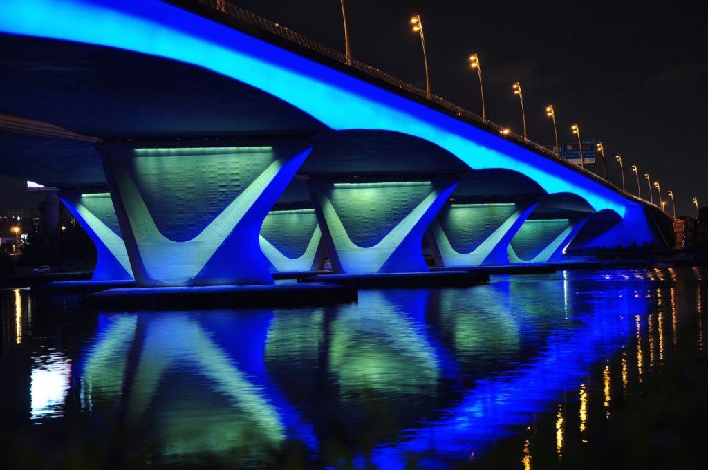 valentines day, Dubai. Below Garhoud Bridge